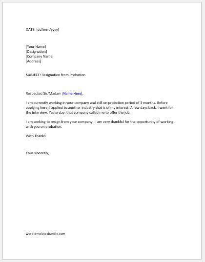probationary period completion letter sample confirmation