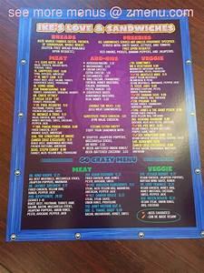 menu of ikes sandwiches restaurant santa