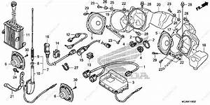 Honda Motorcycle 2008 Oem Parts Diagram For Audio Unit