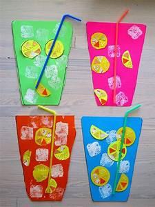 Bastelideen Sommer Kindergarten : limonade glas basteln mit u3 kunst kinder und sommer ~ Frokenaadalensverden.com Haus und Dekorationen