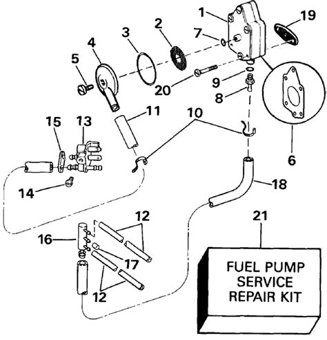 Evinrude 48 Spl Diagram by Fuel And Filter Parts For 1991 48hp E48esleim