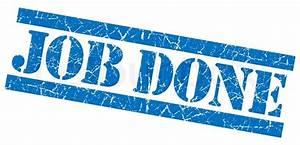 Job done grunge blue stamp | Stock Photo | Colourbox