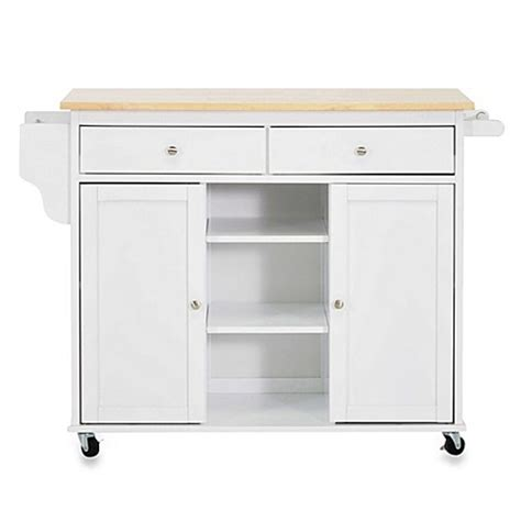 meryland white modern kitchen island cart buy baxton studio meryland modern kitchen rolling island cart in white from bed bath beyond