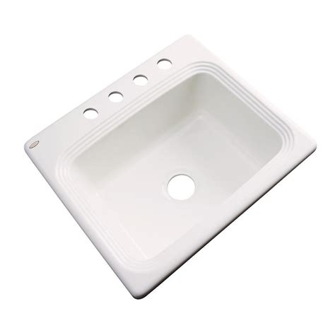 glacier bay kitchen sink glacier bay rochester drop in acrylic 25 in 4 single 3755