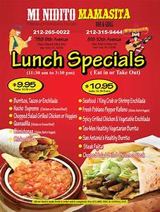 Daily Lunch Specials 11:00am to 2:00pm Images Frompo