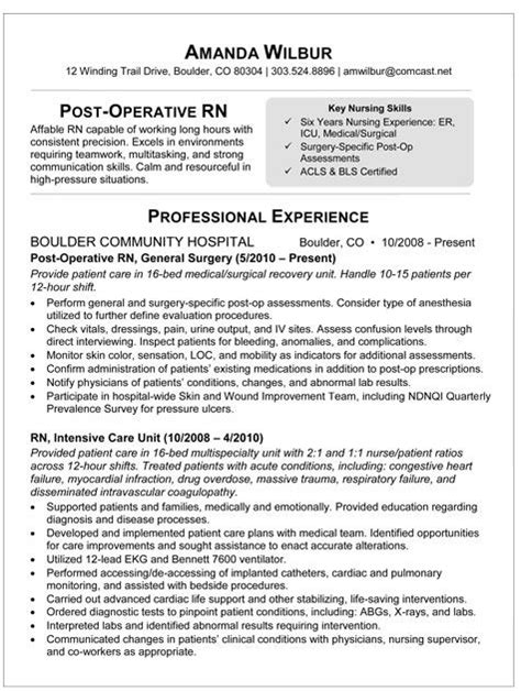 13072 nursing student resume for internship med surg rn resume sle resume for post op i m