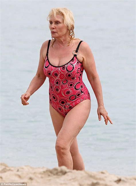 makeup school in new york debbie harry 68 rocks a pink geometric swimsuit as she