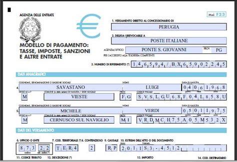 Codice Ufficio Agenzia Entrate Firenze by Come Compilare F23 Notizie It