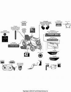 Troy Bilt 13wx78ks011 Bronco  2012  Parts Diagram For Label Map