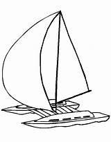 Catamaran Coloriage Bateau Coloring Trimaran Voiture Avion Moto Template Sketch Dessin Facile Ohbq Trolley Imprimer Colouring Random sketch template