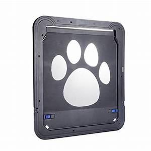Petetpet dog door cat doors pet screen door with magnetic for Automatic locking dog door