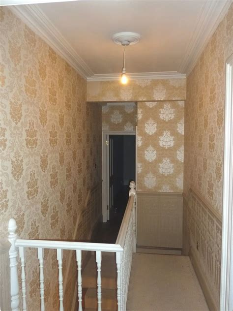 wallpaper  hall  stairs ideas gallery