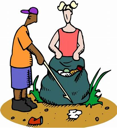 Litter Pick Trash Clipart Littering Clean Keep