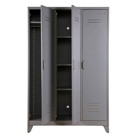armoire metallique chambre metal locker cabinet by idyll home notonthehighstreet com