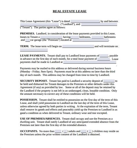 sample real estate purchase agreement templates