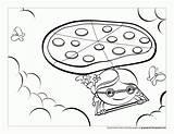 Pizza Coloring Desenho Colorir Voadora Printable Ausmalbilder Desenhos Tudodesenhos Popular Cat Greta Imprimir sketch template