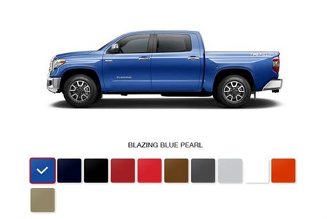 toyota tundra colors 2017 toyota tundra specs cost color options and pricing