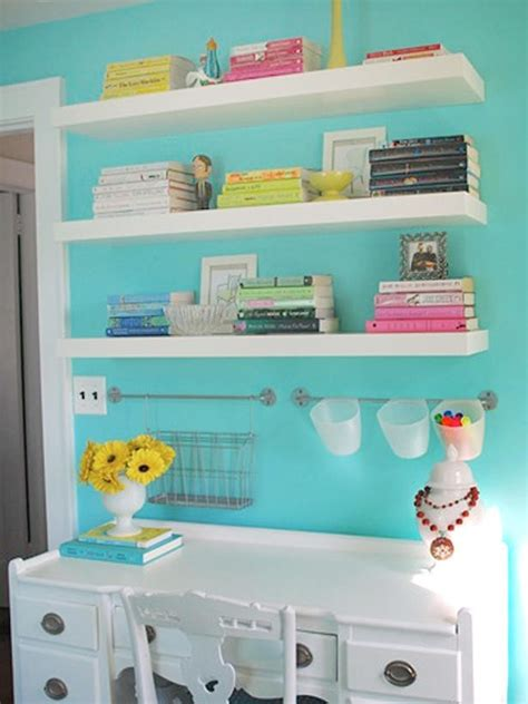 kids desk with shelves floating shelves above the desk nursery children