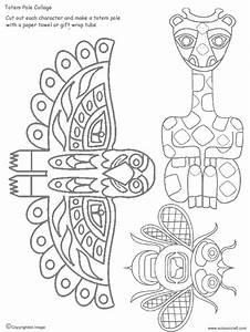 8 best images of printable animal head totem pole totem With totem pole design template