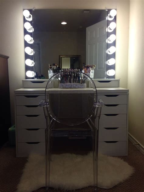 Diy Vanity Light Mirror by Diy Vanity Mirror With Lights For Bathroom And Makeup