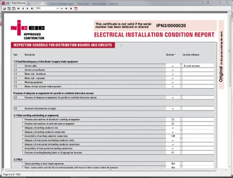 domestic electrical installation condition report