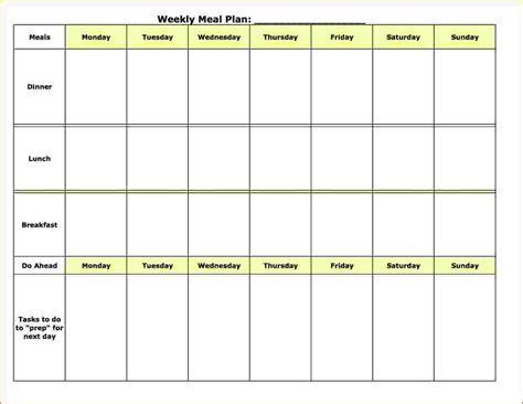 weekly template 8 weekly meal plan template bookletemplate org