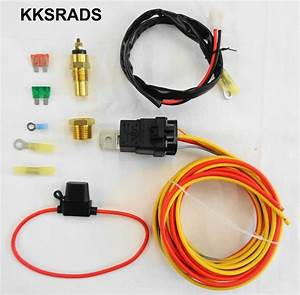 Electric Cooling Fan Wiring Install Kit 185
