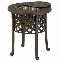 fine patio side table Berkshire By Hanamint Luxury Cast Aluminum Patio Furniture Round Ice Bucket Side Table