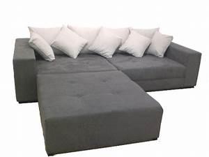 Big Sofa Grau : big sofa xxl inkl hocker megasofa grau ~ Buech-reservation.com Haus und Dekorationen