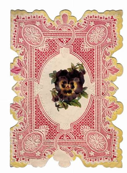 Valentine Victorian Lacey Graphics Border Cards Fairy