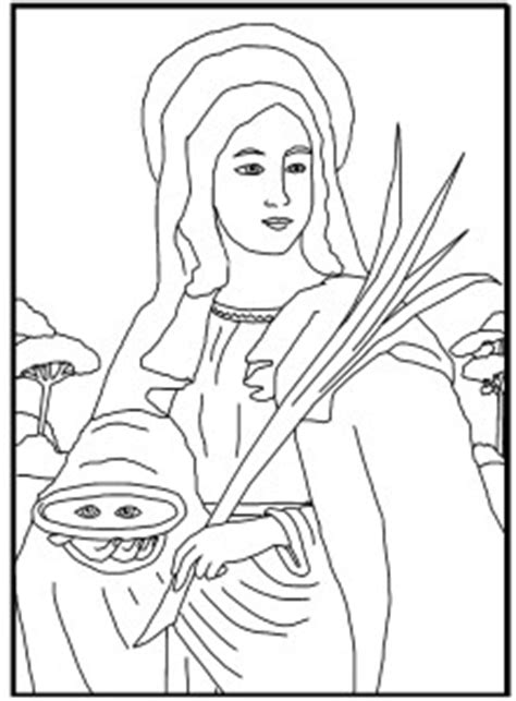 coloring page saint lucy schola rosa