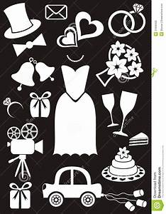 wedding icons royalty free stock photo image 31658405 With black and white silhouette wedding invitations