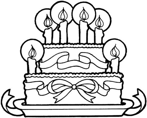 birthday cake coloring page crafts  worksheets