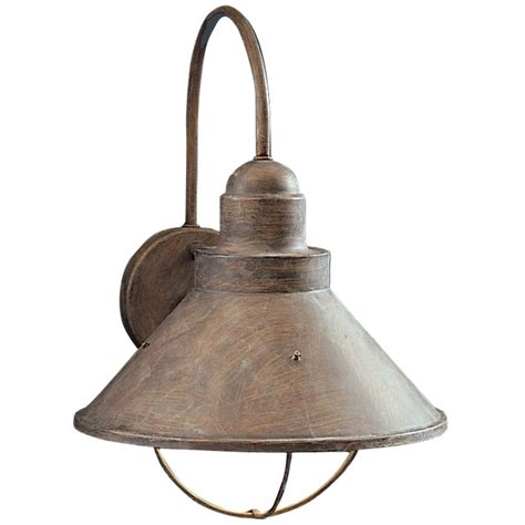 outside light fixtures kichler outdoor wall light in olde brick finish 9023ob