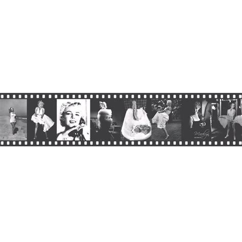 Lutece Marylin Monroe Black & White Film Strip Border