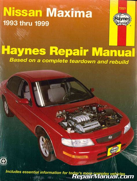 service and repair manuals 1999 nissan maxima interior lighting haynes nissan maxima 1993 1999 auto repair manual