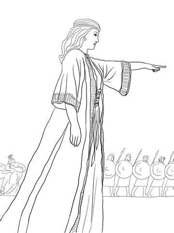 deborah  prophetess coloring page supercoloringcom
