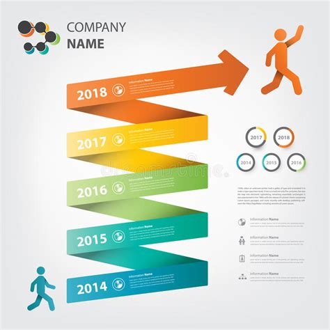 11703 career path infographic milestone and timeline infographic spiral theme stock