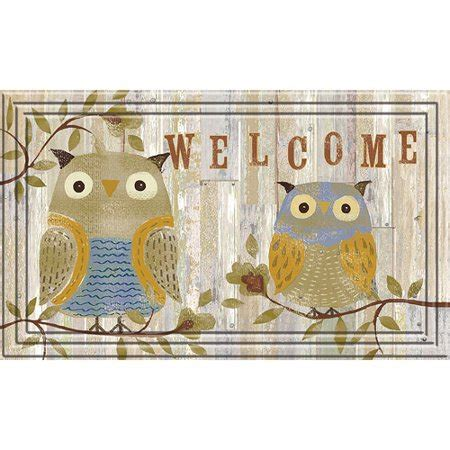 owl welcome mat better homes and gardens 18 quot x 30 quot naturelle rustic