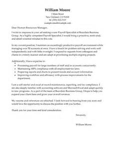 Leading Professional Payroll Specialist Cover Letter