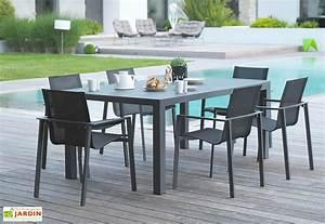 Salon De Jardin Miami : salon de jardin miami en aluminium gris anthracite 1 table 6 fts dcb garden ~ Melissatoandfro.com Idées de Décoration