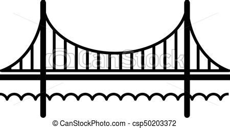 Golden gate bridge icon, simple black style. Golden gate ...