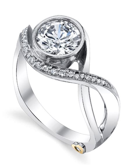 modern engagement ring by schneider schneider design