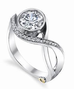 aurora modern engagement ring by mark schneider mark With modern design wedding rings