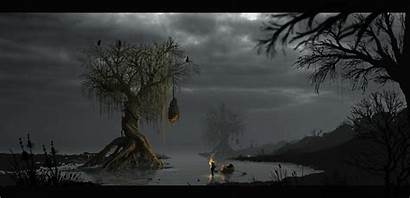 Pixel Forest Dark Games Animated Background Gifs