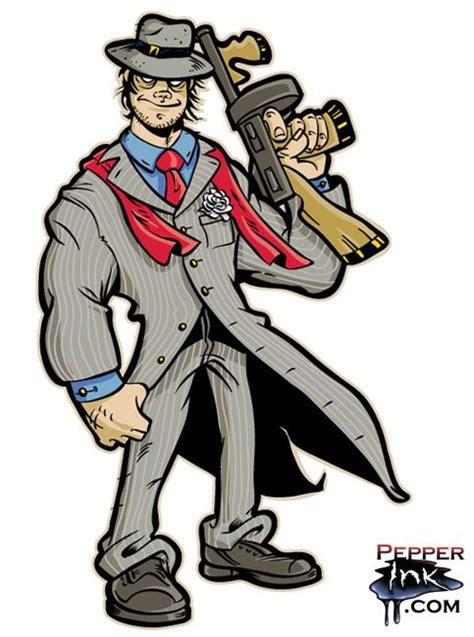 gangster cartoon  artist eric maruscak cartoons