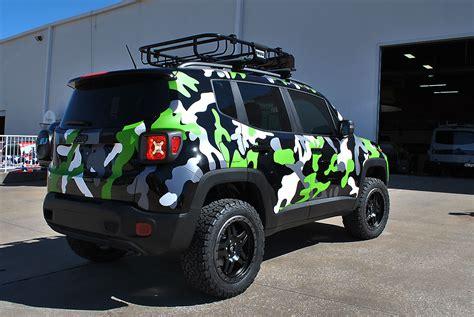 jeep matte white jeep renegade custom camo wrap car wrap city