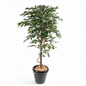 Arbuste D Intérieur : ficus artificiel tronc simple grandes feuilles ~ Premium-room.com Idées de Décoration