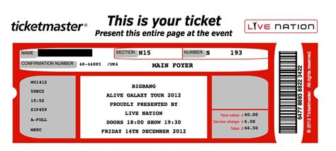 microsoft word template concert ticket