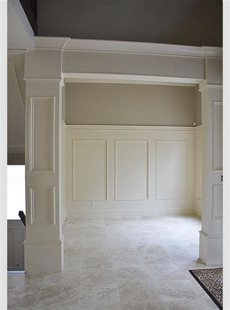 hallway column designs  wainscot solutions